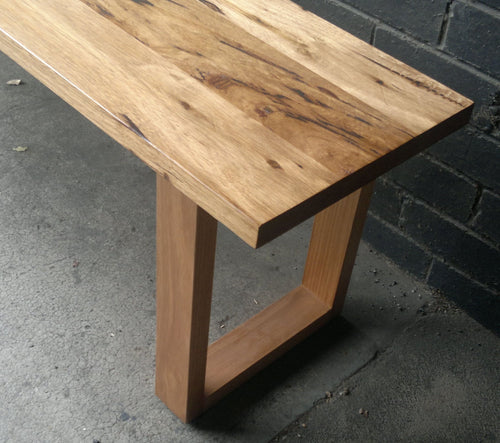 Recycled Australian Timber 'U' Base Bench.