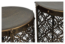 Load image into Gallery viewer, Set of 2 Gold Antique Side Tables