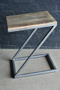 Side Table-'Z' Timber and Metal.