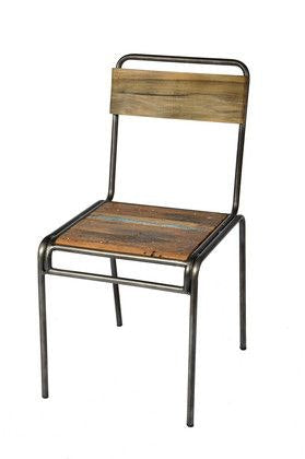 SLH Reclaimed Boatwood 'School' Chair