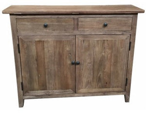 Recycled Elm 2 Drawer Sideboard