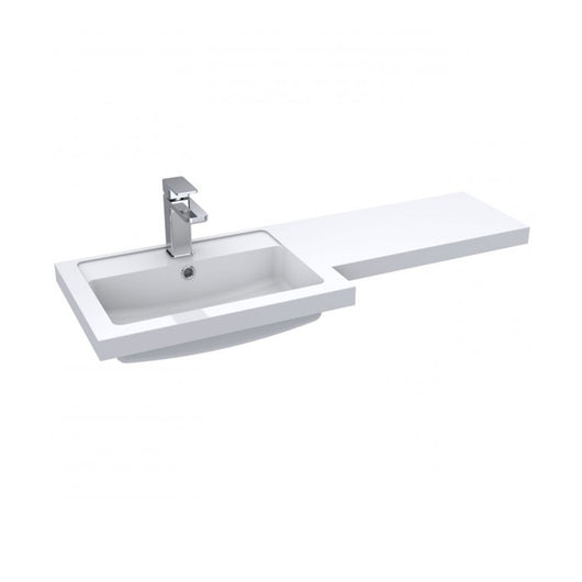 Siena 1000mm Vanity & WC Set with Square Pan - Gloss Grey Mist