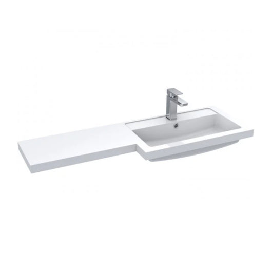 Siena 1100mm Vanity & WC Set with Round Pan - Gloss Grey Mist