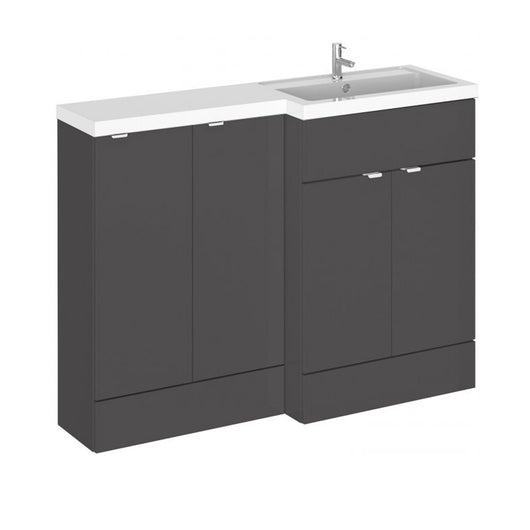 Siena 1200mm Combination Unit with 300mm Basin Unit - Gloss Grey