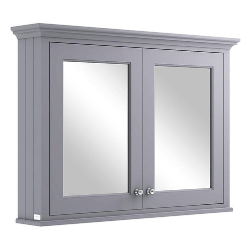 Bayswater 1050mm Mirrror Wall Cabinet - Plummett Grey
