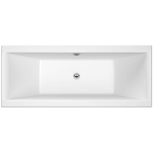 Pearl Square Double Ended Acrylic Bath - 1700 x 700mm - welovecouk