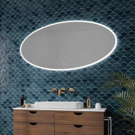 DesignCo Ovale 1200mm Illuminated LED Mirror - welovecouk