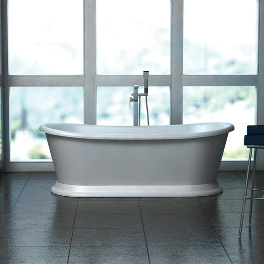 Vincent Alexander Peony 1700 Double Ended Freestanding Bath - Grey - welovecouk