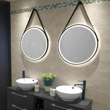 DesignCo Vertex 600mm Round Illuminated LED Mirror - welovecouk