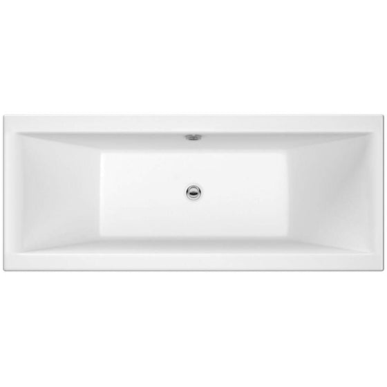 Pearl Square Double Ended Acrylic Bath - 1800 x 800mm - welovecouk
