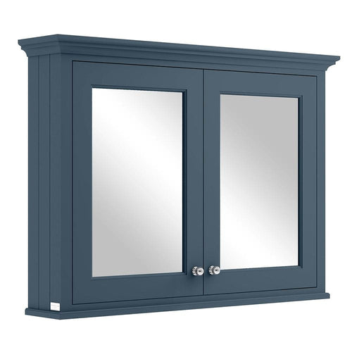 Bayswater 1050mm Mirrror Wall Cabinet - Stiffkey Blue