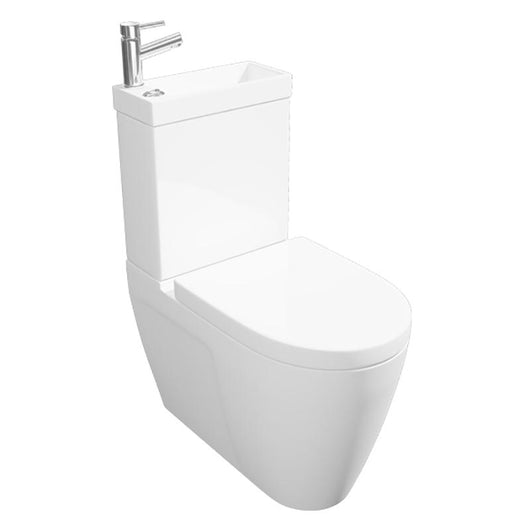 2-in-1 Close Coupled Toilet & Integrated 1 Tap Hole Basin - welovecouk