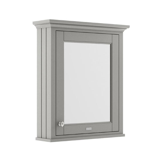 Old London 600mm Bathroom Mirror Cabinet - Storm Grey - welovecouk