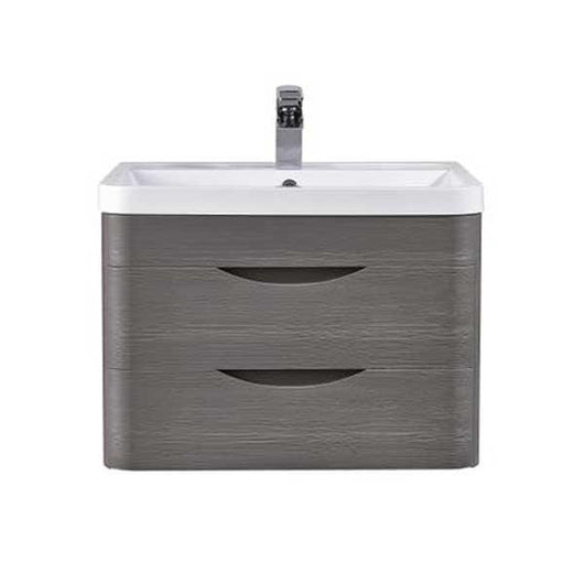 Solar 800mm Wall Hung 2-Drawer Basin Vanity Unit - Midnight Grey - welovecouk
