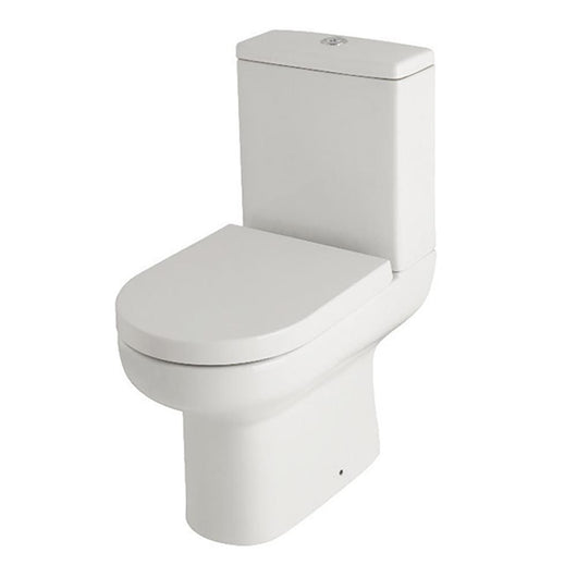 Elegance Close Coupled Close to Wall Toilet & Soft Close Wrapover Seat - welovecouk