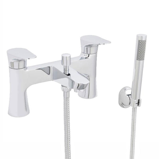 Sharp Dual Lever Bath Shower Mixer Tap - welovecouk