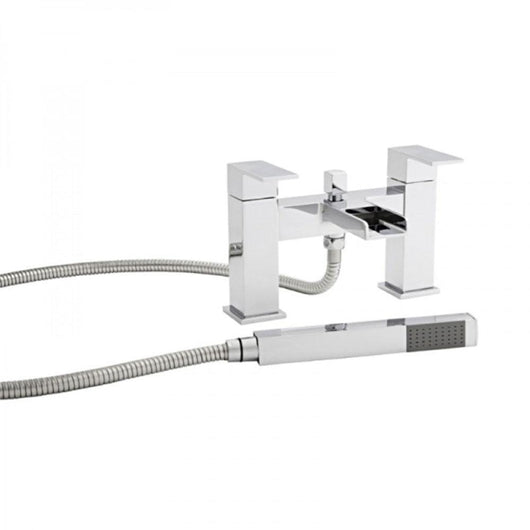 Aspect Dual Lever Waterfall Bath Filler Tap - welovecouk