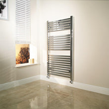 Beta Heat 600 x 1200 Square Chrome Heated Towel Rail - welovecouk