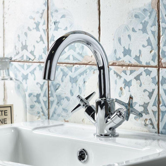 Fairview Basin Mixer Tap & Waste - welovecouk
