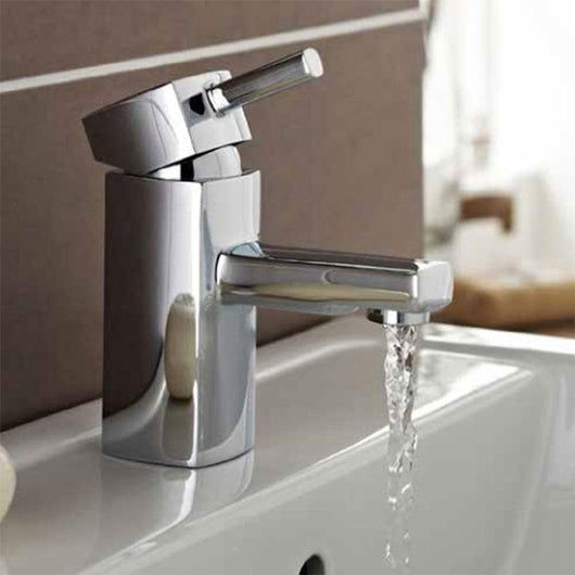 Median Single Lever Mini Mono Basin Mixer Tap - welovecouk