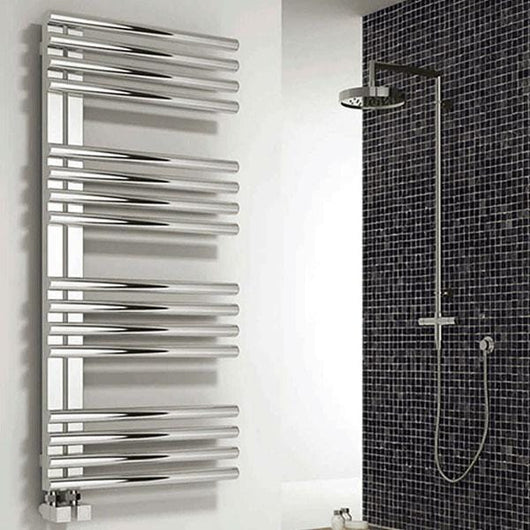 Reina Adora 1106 x 500 Stainless Steel Heated Towel Rail - welovecouk