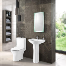 Misirlou Close Coupled Toilet & 550mm Full Pedestal Basin - welovecouk
