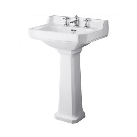 Bayswater Fitzroy 3TH 595mm Basin & Pedestal