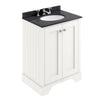 Bayswater 600mm 2-Door Basin Vanity Unit - Pointing White