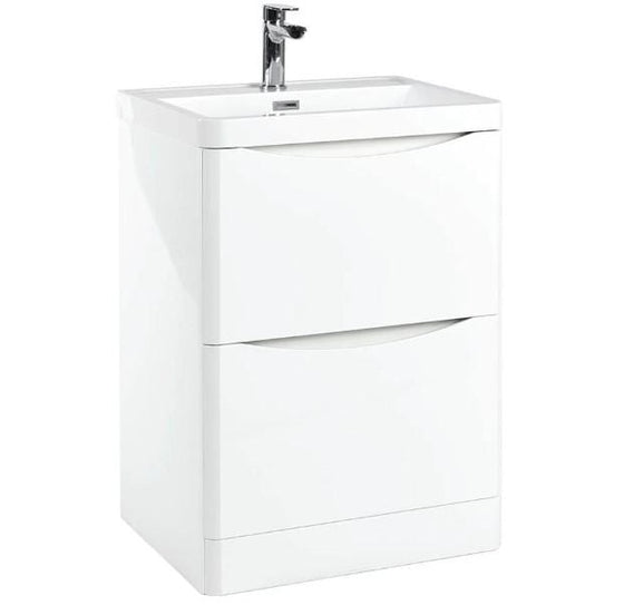 Bella 600 Floor Cabinet - Gloss White - welovecouk