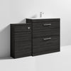 Mantello 1300mm Vanity & WC Set with Square Pan - Hacienda Black