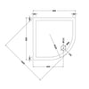 900 X 900 Quadrant Stone Shower Tray