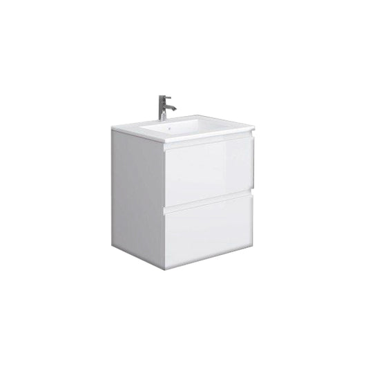 RAK Joy 600mm Wall Hung Vanity Unit with Basin - Pure White