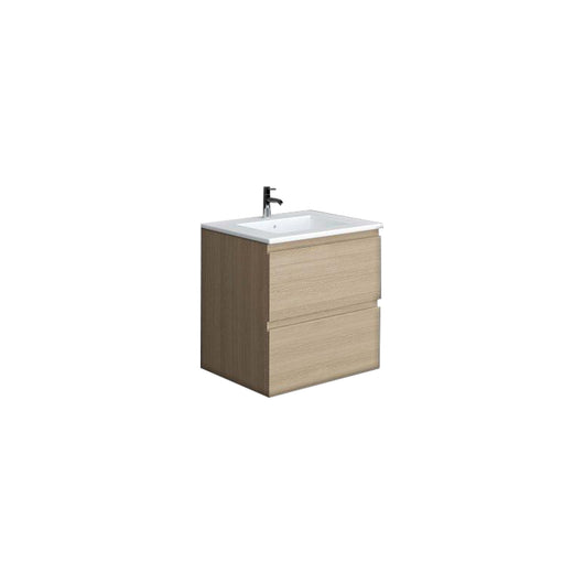 RAK Joy 600mm Wall Hung Vanity Unit with Basin - Scandinavian Oak