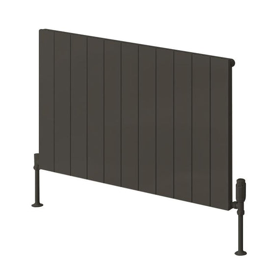 Reina Casina Single Horizontal Aluminium Radiator 600 x 1040 - Anthracite - welovecouk