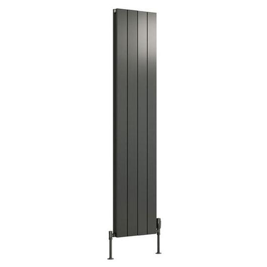 Reina Casina Double Vertical Aluminium Radiator 1800 x 375 - Anthracite - welovecouk