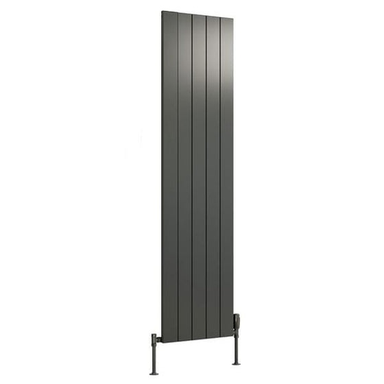 Reina Casina Single Vertical Aluminium Radiator 1800 x 470 - Anthracite - welovecouk