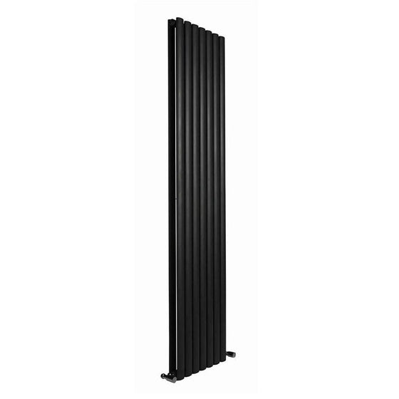 Reina Neva Vertical Double Radiator 1800 x 413 - Anthracite - welovecouk
