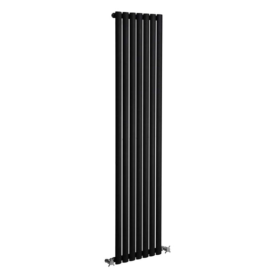 Reina Neva Vertical Single Radiator 1500 x 531 - Anthracite - welovecouk