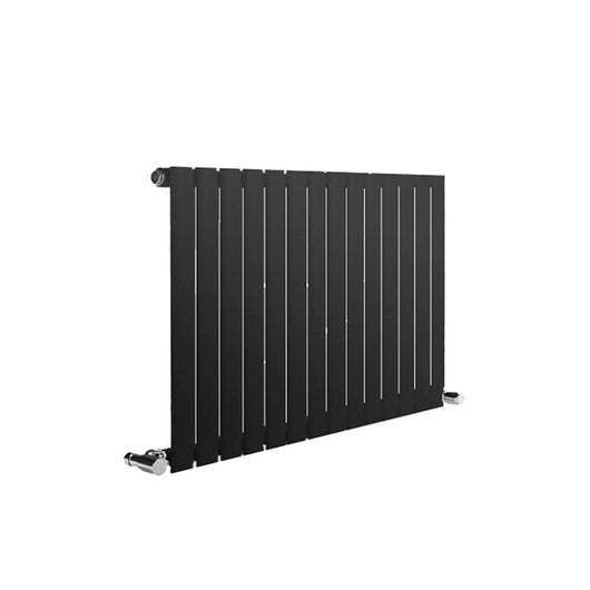 Reina Neva Horizontal Single Radiator 550 x 826 - Anthracite - welovecouk