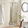 ShowerWorX Atlantic 900mm Bi-Fold Shower Door - 4mm Glass