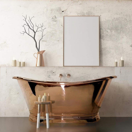 BC Designs Classic 1700 Roll Top Copper Boat Bath