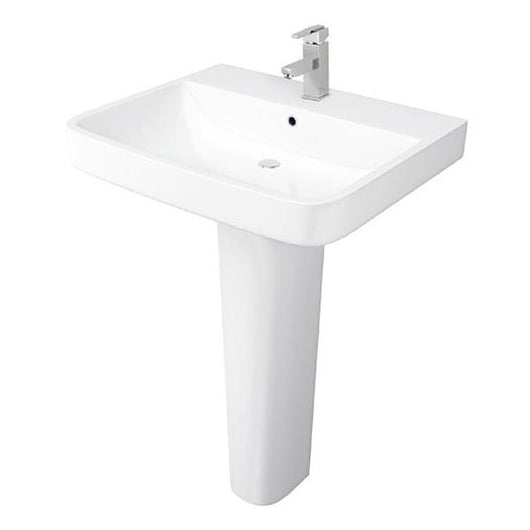 Napoli 550mm 1 Tap Hole Basin & Full Pedestal - welovecouk