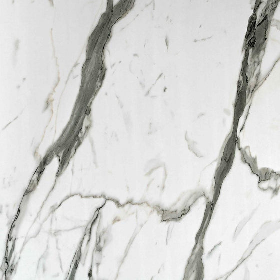 Showerwall Straight Edge 900mm x 2440mm Panel - Bianco Carrara - welovecouk
