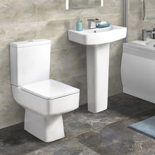 Serene Close Coupled Toilet & 600mm Full Pedestal Basin - welovecouk