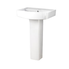 Serene 600mm 1 Tap Hole Basin & Full Pedestal - welovecouk