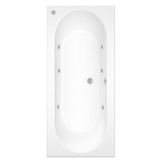 Carpi Super Deep 1800 x 800 Whirlpool & Hydrotherapy Spa Double Ended Bath - Various Options
