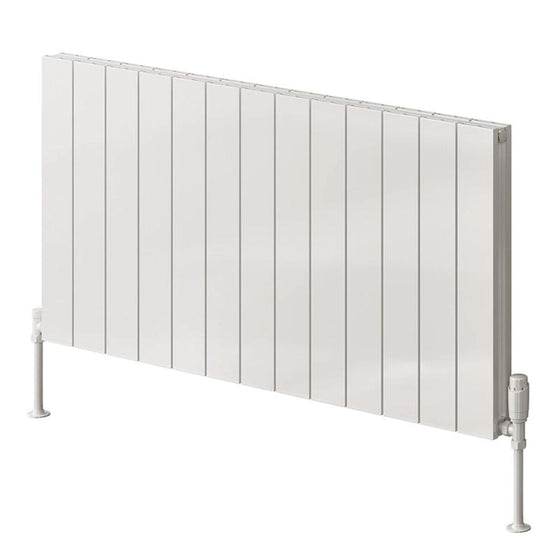 Reina Casina Single Horizontal Aluminium Radiator 600 x 1230 - White - welovecouk