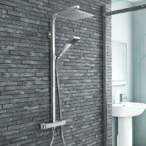 Wallgate 1600 x 700mm Single Ended Acrylic Bath & Square Bath Screen