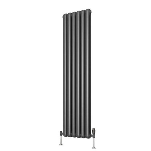 Reina Coneva Vertical Steel Radiator 1500 x 370 - Anthracite - welovecouk