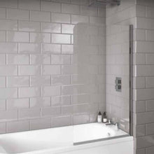 S6 Radius Edge 6mm Thick Bath Screen - welovecouk